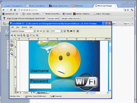 vouchers hotspot printed with Corel Draw - YouTube