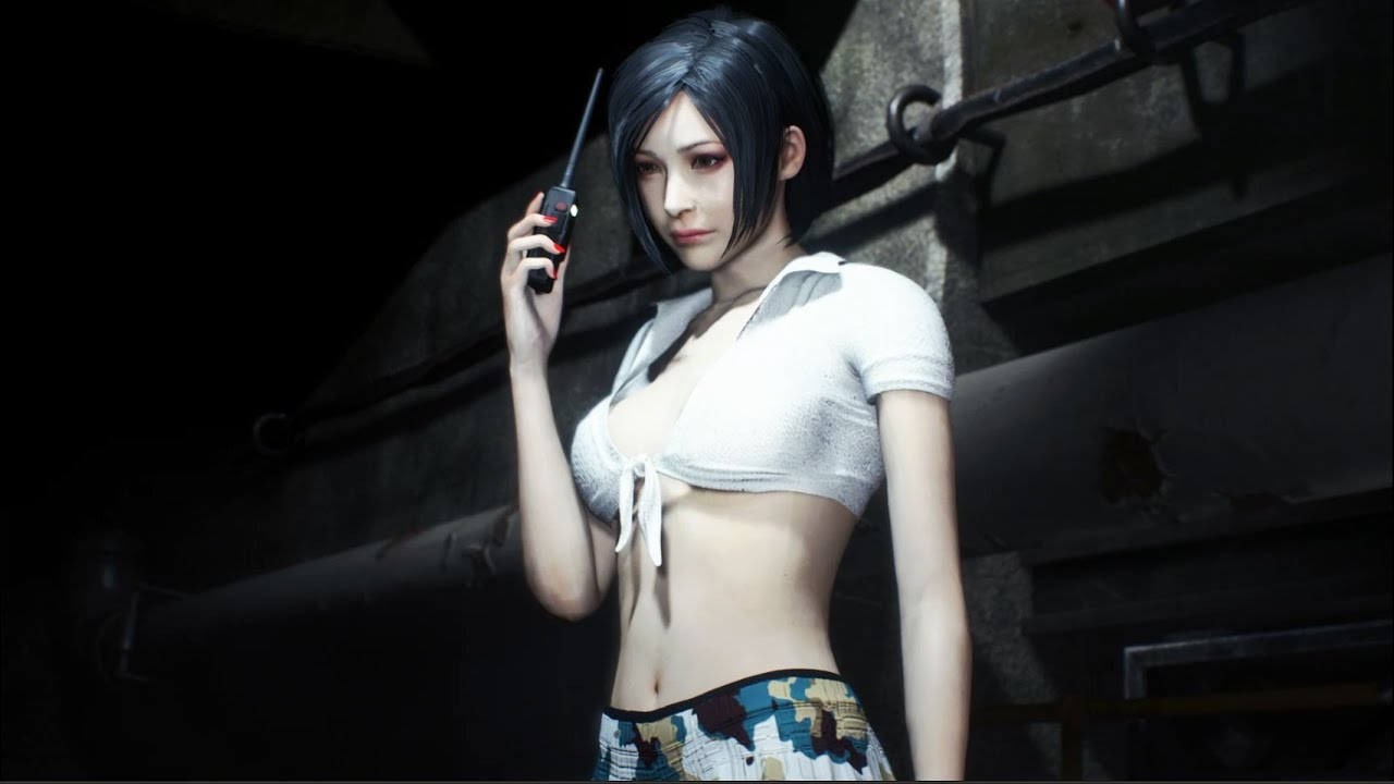 Resident Evil 2 Mod Walking With Ada Wong School Girl Retexture