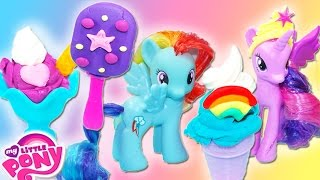 my little pony play doh ice cream shop frozen popsicles and sudae playdough