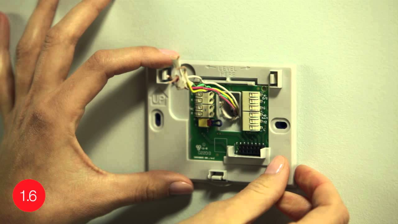 substitute extra wire for c wire install the honeywell wi fi smart thermostat with this video youtube [ 1280 x 720 Pixel ]
