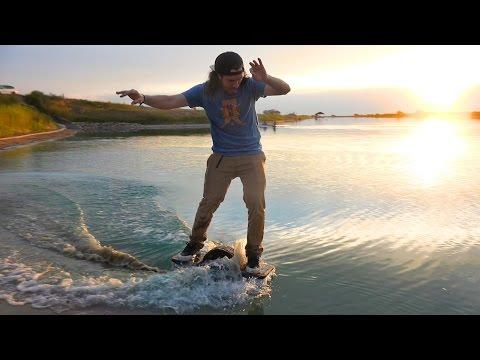 One Wheel Hoverboard Underwater!!?