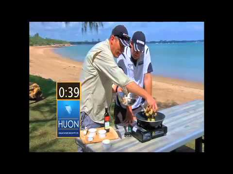 HUON Hook, Line And Sinker - Seafood In 60 Seconds - Garlic Prawns 2010