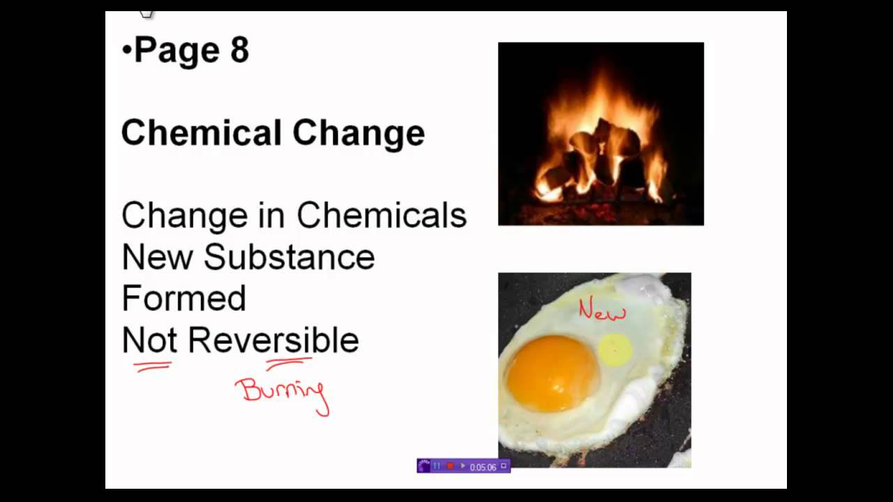 Chemical Physical Used And They How And Changes What Are Substance Are