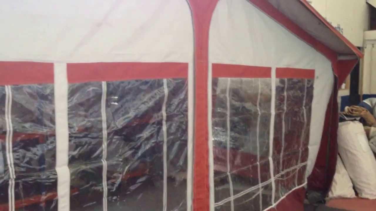 Sunncamp Mirage caravan awning size 16 - YouTube