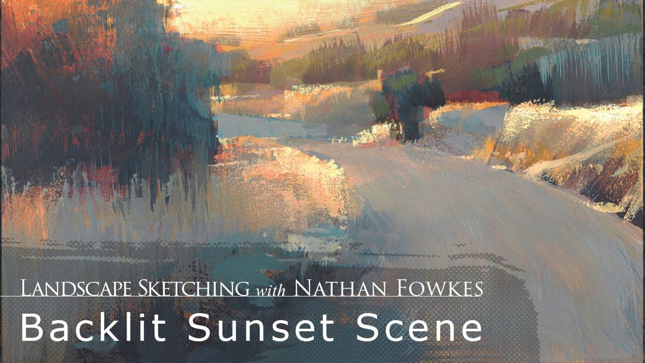 Landscape Sketching With Nathan Fowkes: Backlit Sunset