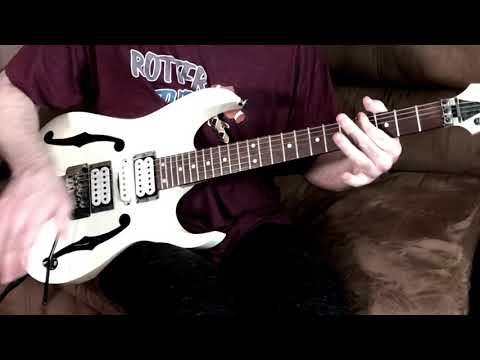 Yamaha thr10x with Ibanez pgm 30 Paul Gilbert metal improv jam