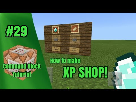 How To Make XP Shop In MCPE