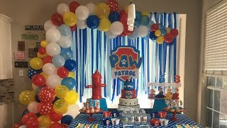 Download Mp3 Organic Balloon Garland Backdrop   Paw Patrol Backdrop   Tutorial
