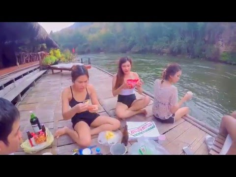 Kanchanaburi, Thailand Part 1 | River Kwai Jungle Rafts | กาญจนบุรี