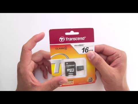 Карта памяти MicroSDHC 16Gb Transcend Class 4 адаптер SD