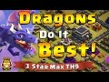 TH 9 Awesome Dragon Sweep 3 Star Attack Strategies | Clash of Clans