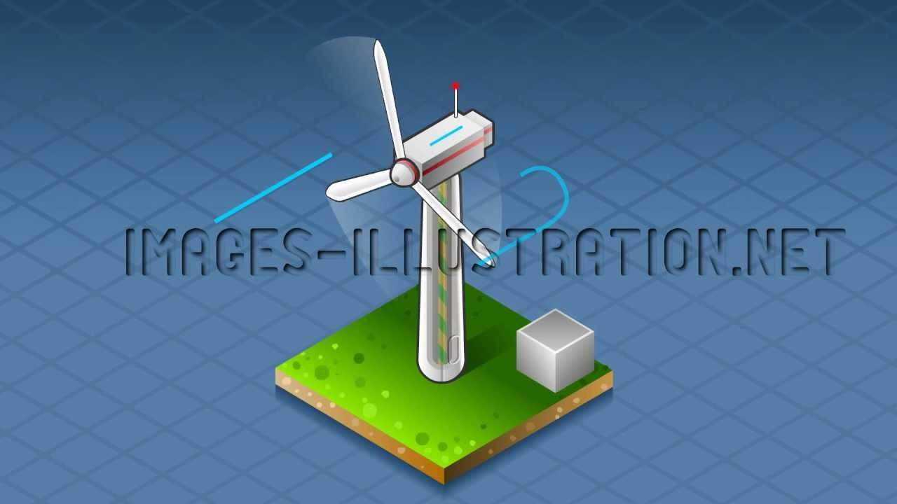 Isometric Diagram Wind Turbine That Produces Energy Youtube Diagrams