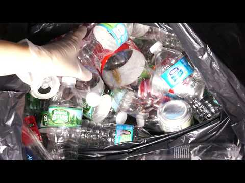 ASMR Counting to 50 FOR SLEEP: CRINKLES, Bottles & Cans Sounds (Recycling Edition LOLLL)