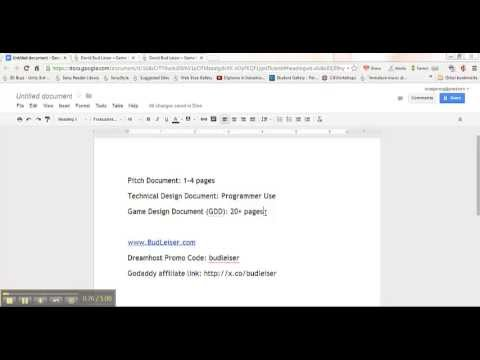 How To Make A Powerful And Efficient Game Design Document Gdd Part 1 Youtube