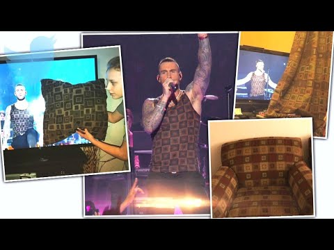 Adam Levine's Super Bowl Tank Looks Like Curtain Pattern Mp3