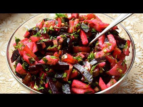 Легкий салат из СВЕКЛЫ и яблока. Рецепт без майонеза. К ПОСТУ. Мамины рецепты