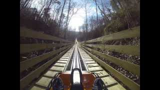 Smoky Mountain Alpine Coaster ROLLER COASTER POV Pigeon Forge Tennessee