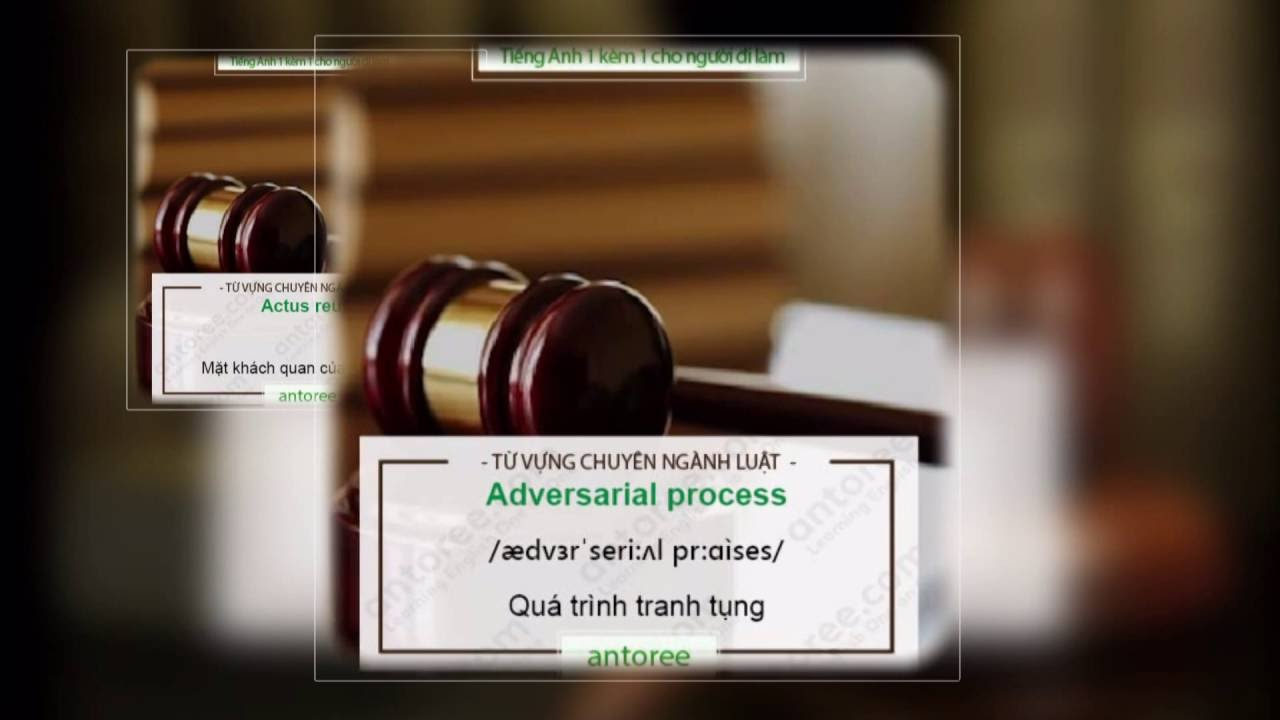 Từ vựng Tiếng Anh Chuyên Ngành Luật (Phần 1)