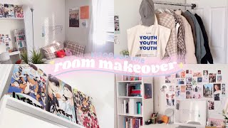 🍡 subtle small room makeover | aesthetic kpop & anime edition