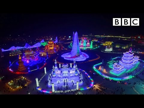 The incredible Chinese city made from ICE! I Chinese New Year - BBC