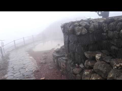Observation of Syria (Damascus suburbs) on a winter day. Mount Bental, the Golan Heights Israel