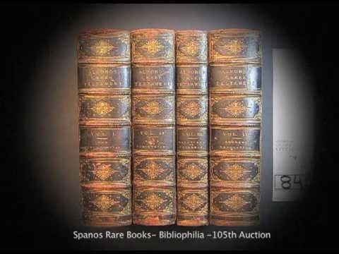 SPANOS RARE BOOKS BIBLIOPHILIA 105th AUCTION