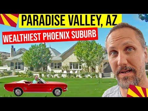 Paradise Valley, Arizona Homes and Tour: Moving / Living In Phoenix, Arizona Suburbs
