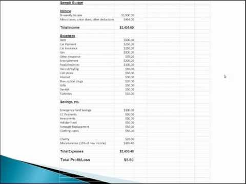 Household Budget and Finances Template and Tutorial (Ex