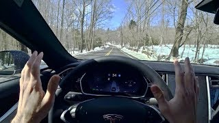 2017 Tesla Model S 100D - Tedward POV Test Drive (Binaural Audio)