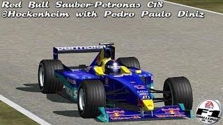 [F1C] Red Bull Sauber-Petronas C18 @Hockenheim with Pedro Paulo Diniz (1999 Season) [HD]