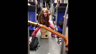 Subway jam Frankfurt S-bahn Heidi Joubert featuring Kiddo Kat