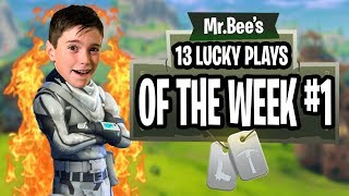 TOP 13 LUCKY PLAYS OF THE WEEK!! - Fortnite Gameplay - Mr Bee