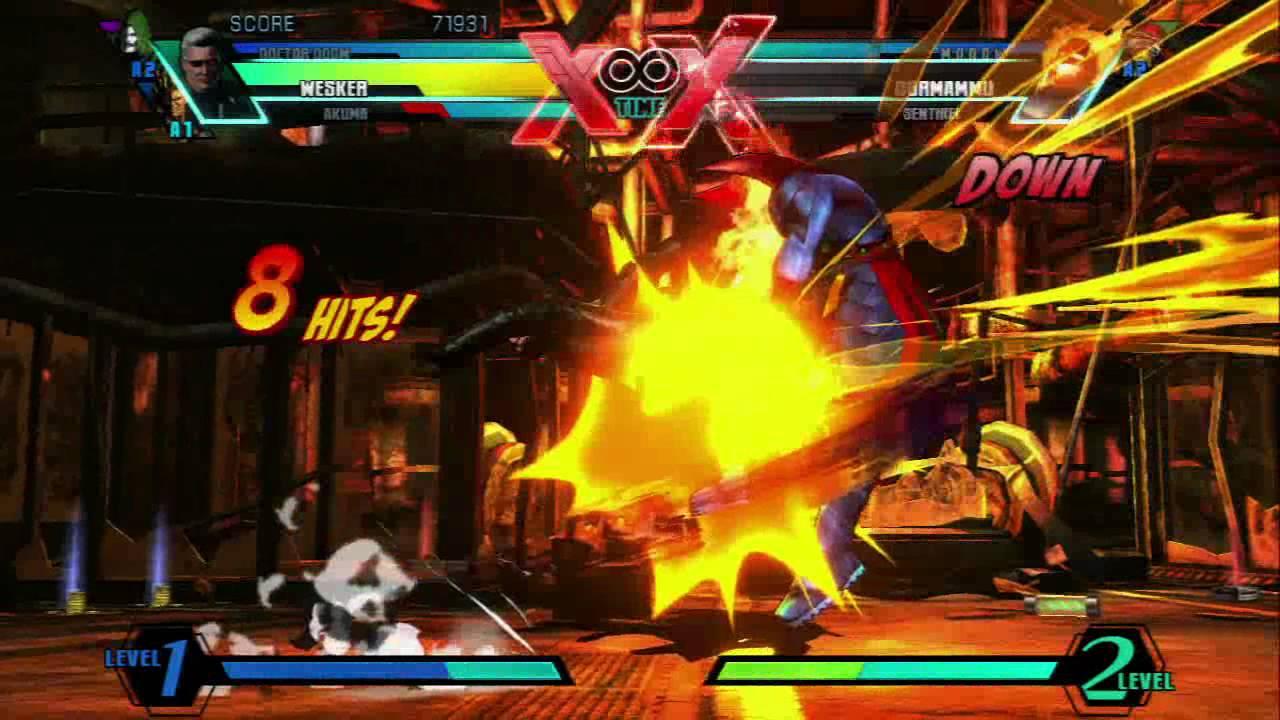 Ultimate Marvel vs Capcom 3 PS3 Gameplay Part 1 - YouTube
