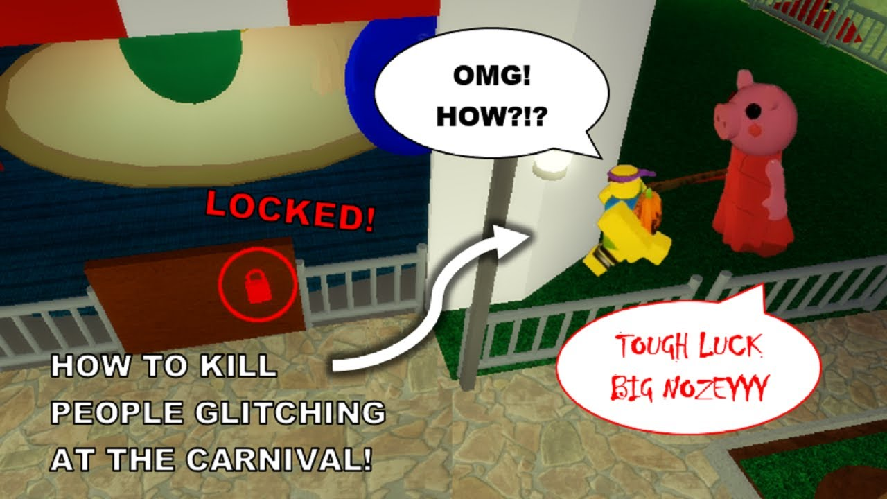 Red Door Locked!   How to KILL people GLITCHING in Chapter - 8 Carnival [Roblox Piggy Glitches]