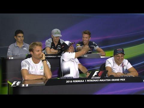 Drivers Face The Press | Malaysian Grand Prix 2016