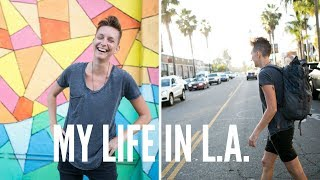 DIGITAL NOMAD LIFE IN LOS ANGELES | +airbnb tour