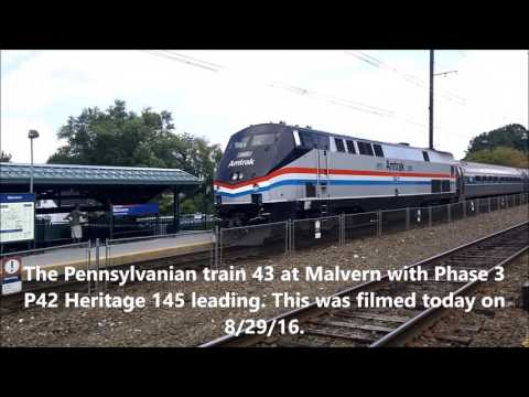The Pennsylvanian train 43 at Malvern 8/29/16