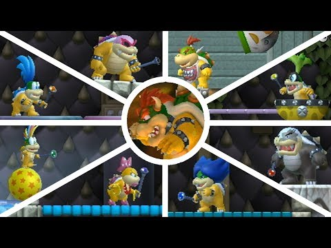 New Super Mario Bros. Wii - All Bosses