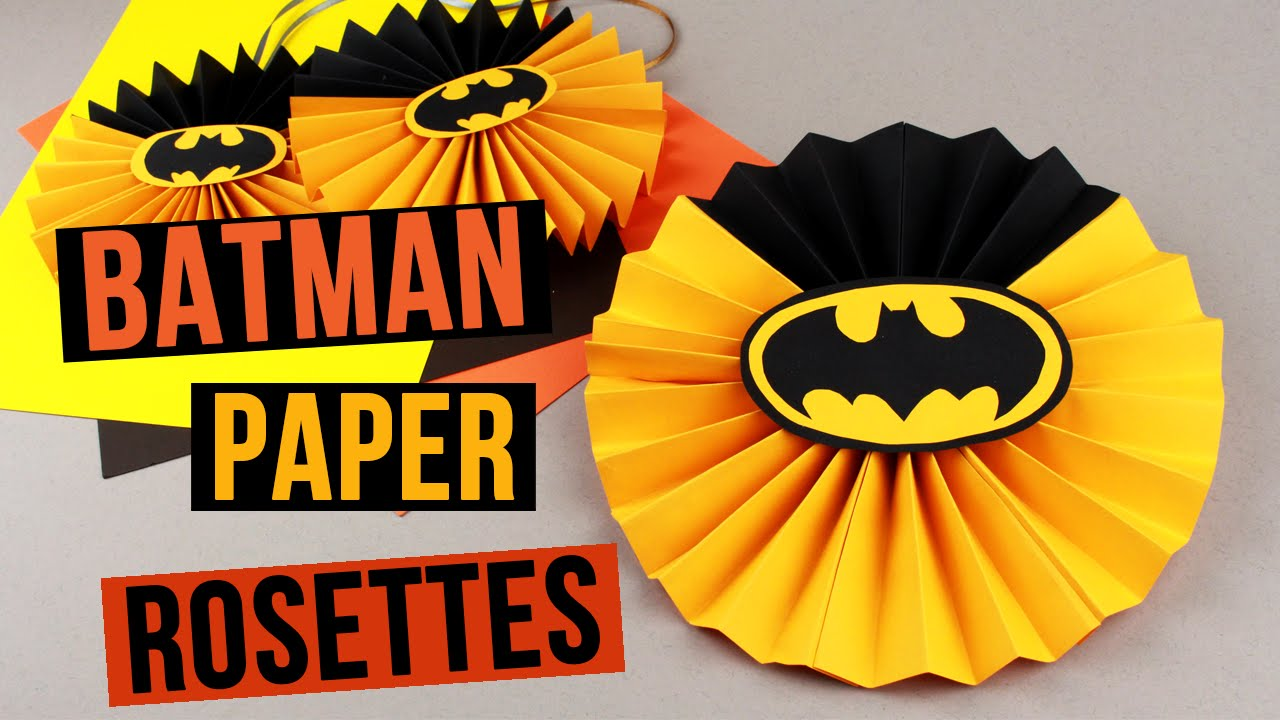 Diy batman party decorations paper rosettes youtube solutioingenieria Choice Image