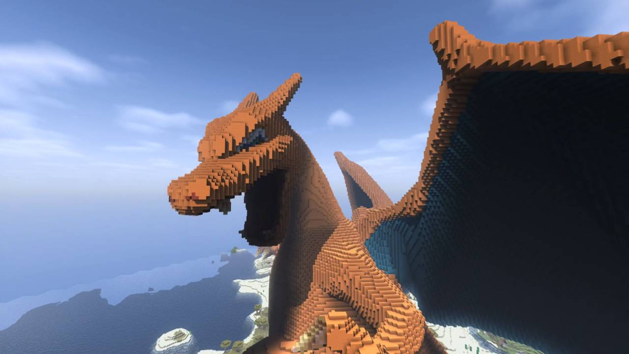 Charizard Build Minecraft
