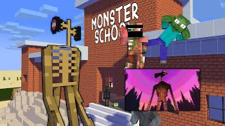 Monster School: SIREN HEAD CHALLENGE - Minecraft Animation