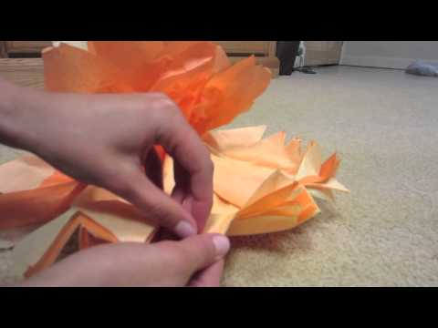 DIY: Easy Decorative Tissue Paper Pom Poms