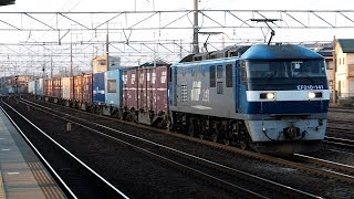 2020/01/21 JR貨物 5070レ EF210-141 清洲駅 | JR Freight: Cargo Train at Kiyosu