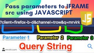 Programmatically passing URL Parameters to IFrame src using JavaScript