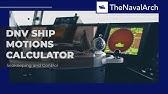 OCIMF Anchoring Load Calculator - www thenavalarch com - YouTube