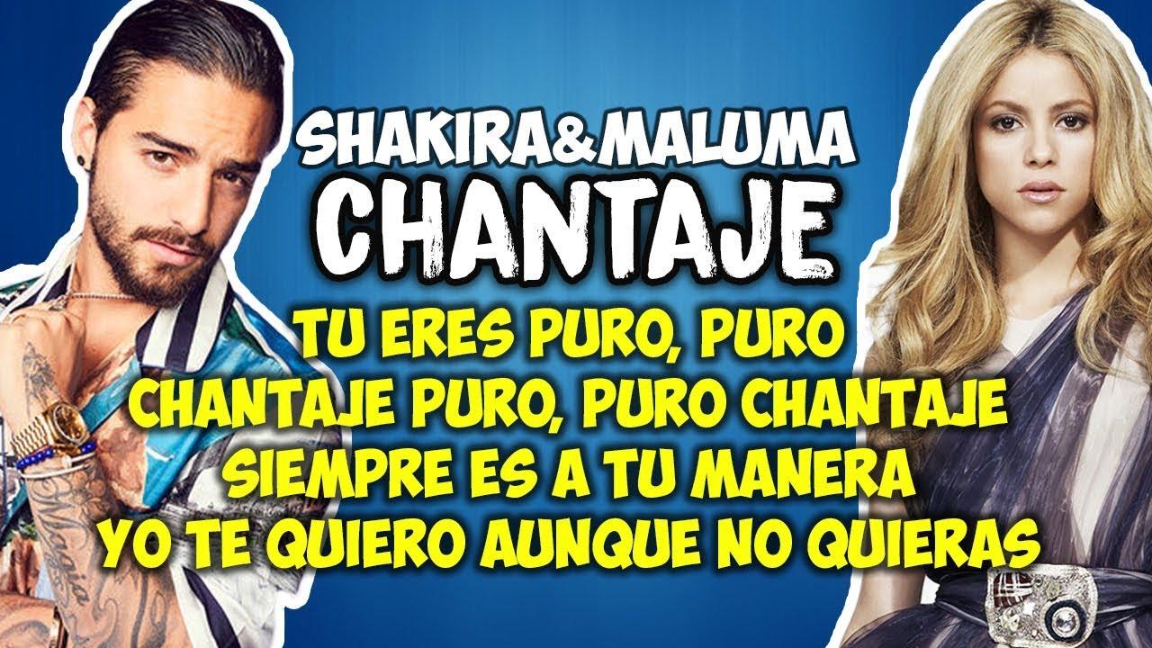 Shakira Ft Maluma Chantaje Letra Youtube