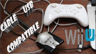 Cable USB Para El Control Wii U Pro 🎮 Compatible Con Antena WIFI Curiosidad Control Nintendo