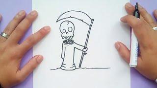 Como dibujar a la muerte paso a paso | How to draw to death