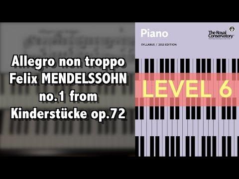 MENDELSSOHN Allegro non troppo (no.1), from 6 Kinderstücke Op.72