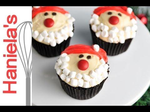 Christmas Santa Cupcakes Haniela S Youtube
